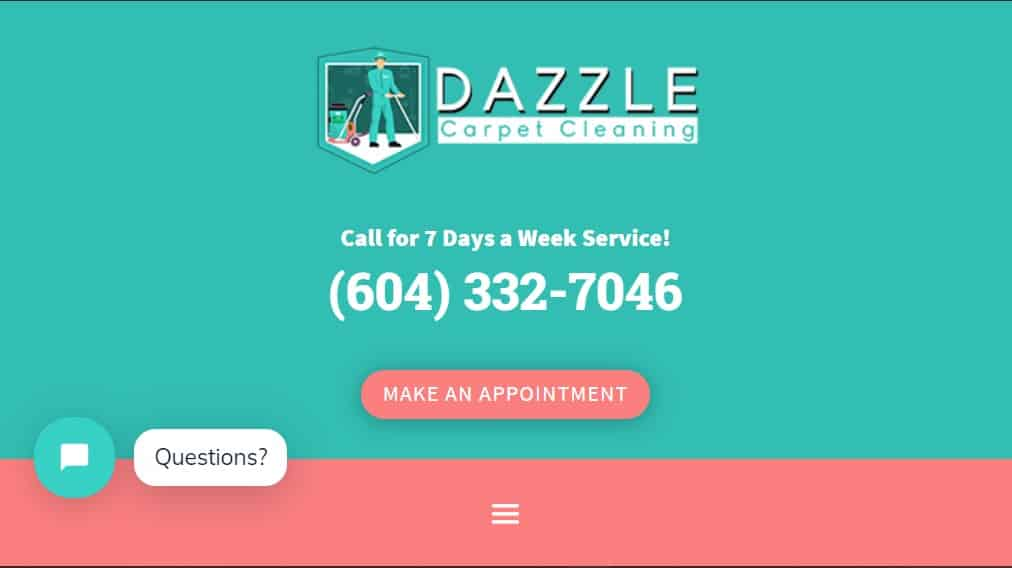 Dazzle Carpet Cleaning Vancouver's Homepage