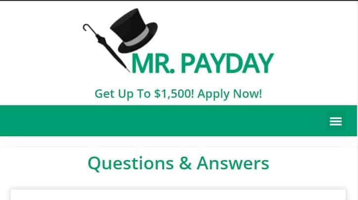 Mr. Payday's Homepage
