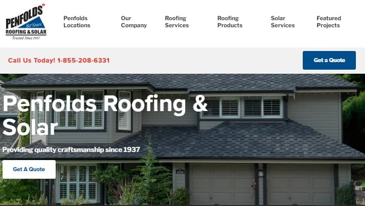 Penfolds Roofing & Solar's Homepage