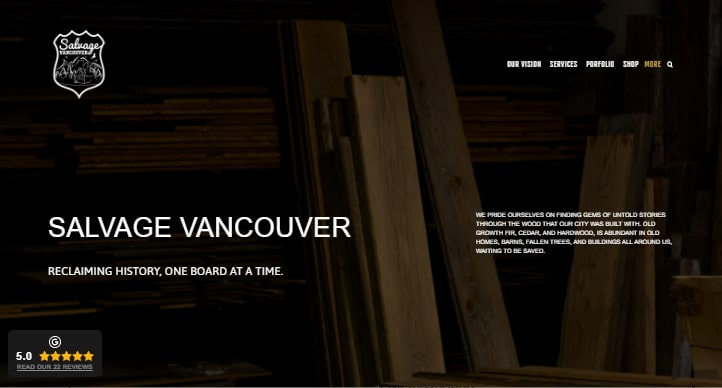 Salvage Vancouver Woodworking & Reclaimed Wood Market's Homepage
