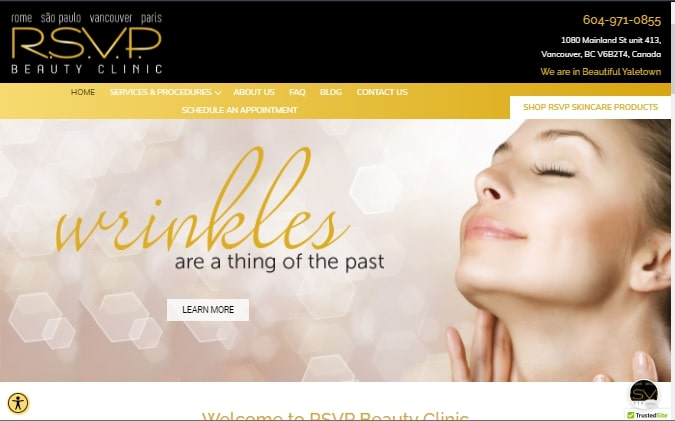 R.S.V.P. Beauty Clinic's Homepage