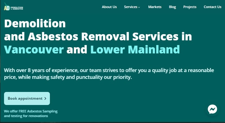 A&D Demolition and Asbestos Removal's Homepage