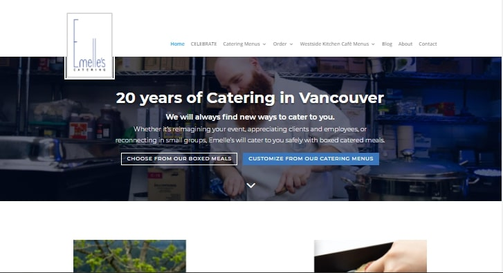 Emelle's Catering's Homepage