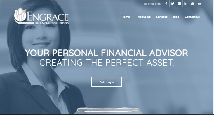 Engrave Financial Solutions' Homepage