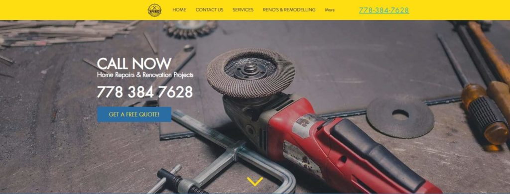 Zaphandy Construction and Handyman Services Inc.'s Homepage