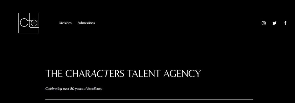 The Characters Talent Agency's Homepage